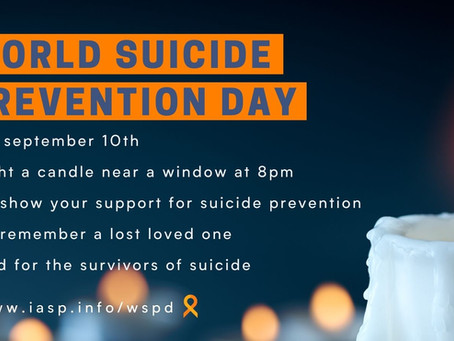 World Suicide Prevention Day – September 10, 2021