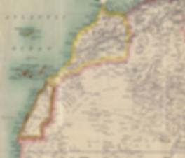Carte Sahara Occidental pré-coloniale