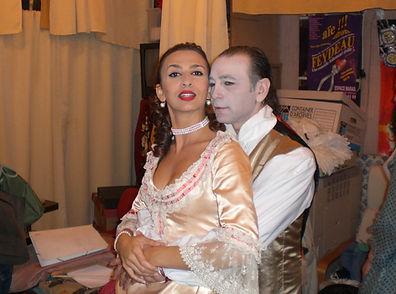 """Myriam Gastaldi et Joseph Morana dans """"Les liaisons dangereuses"""" de Laclos. Adaptation et mise en scène Joseph Morana"""