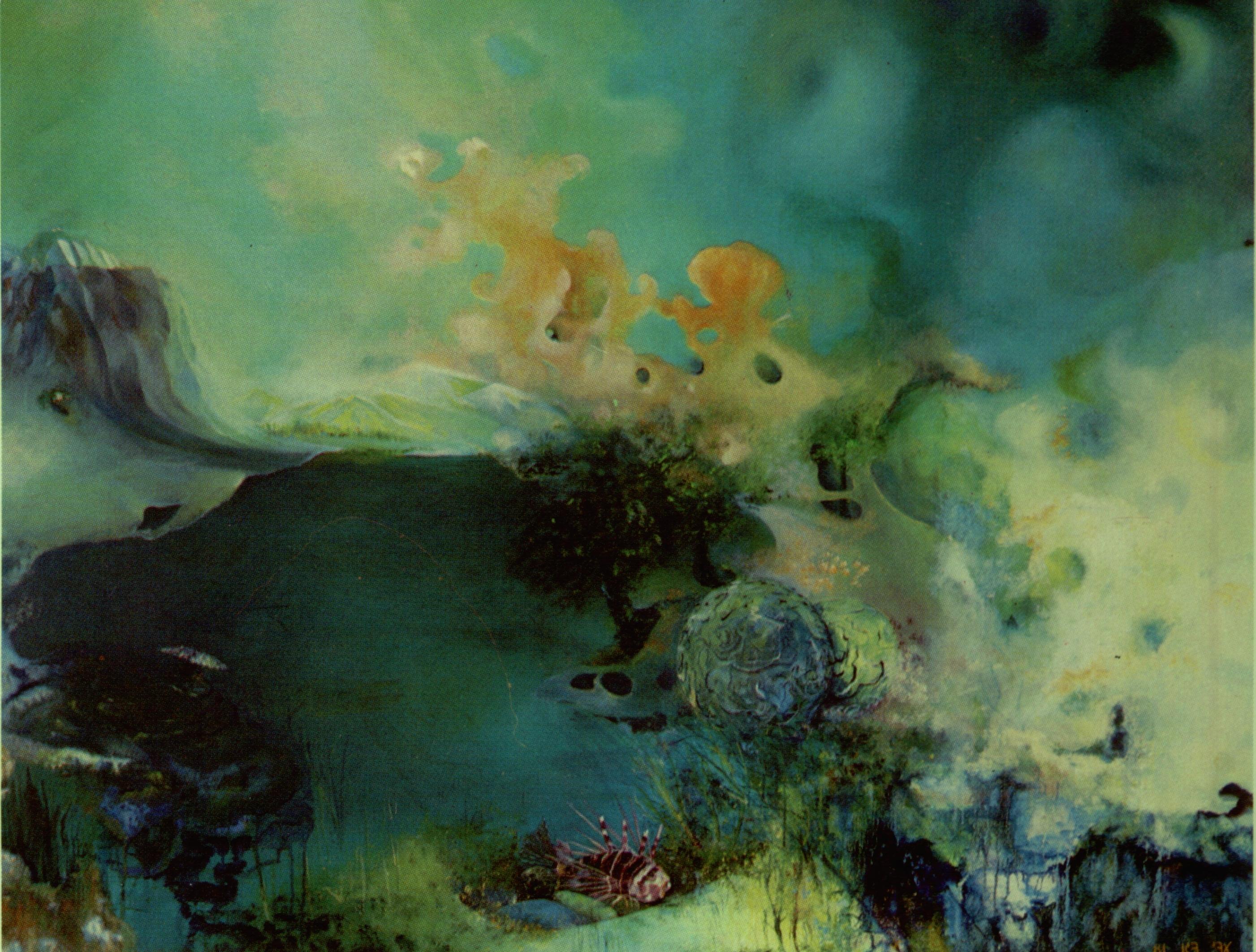 oil painting - eilat waterworld