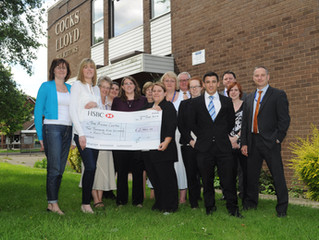 Cocks Lloyd solicitors raise nearly £3,500 to support local counselling service