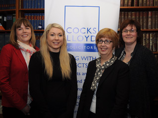 Cocks Lloyd solicitors chooses local counselling service as its charity partner