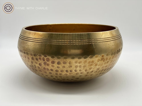 Large Hand-Hammered, Machine-Finished Singing Bowl