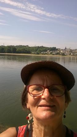 Jocelyne en bord de Loire