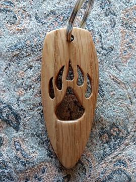 Bear Track Keychain