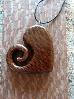 Lacewood Heart Necklace