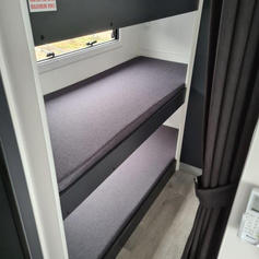 Triple bunks approx 1920mm length (each bunk)