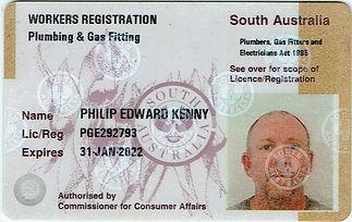 Philip Kenny SA Plumbers Licence21102020