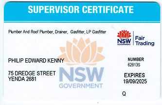 Philip Kenny Supervisor Certificate No.6