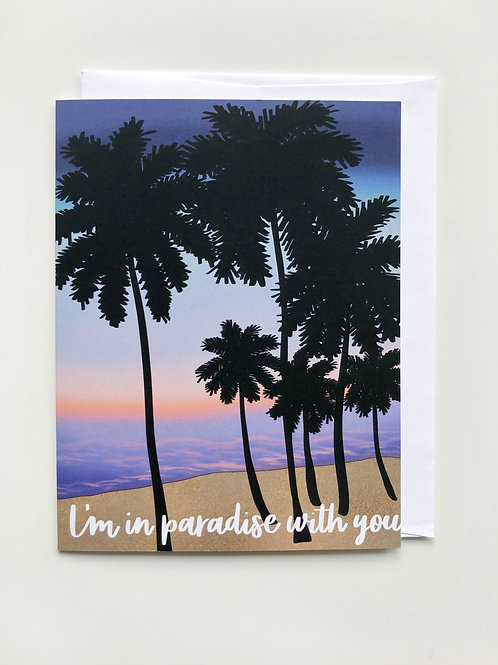 paradise with you card