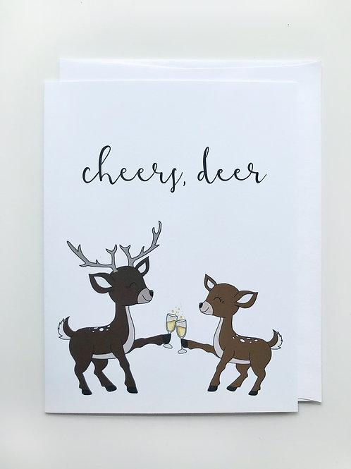 cheers, deer card