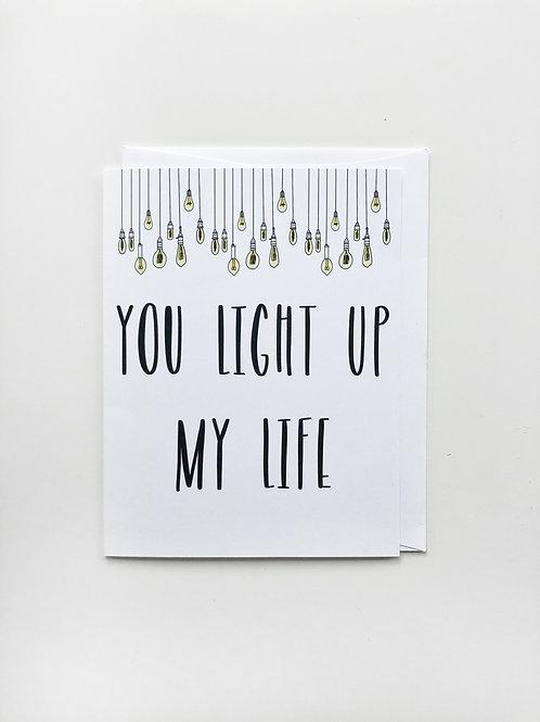 light up my life card