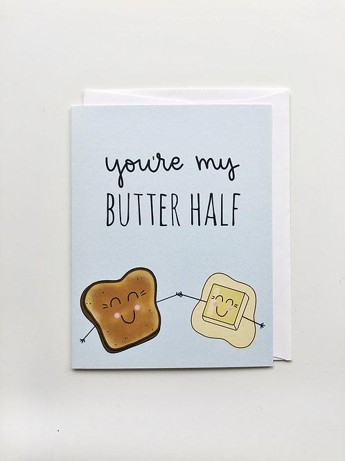 butter half card