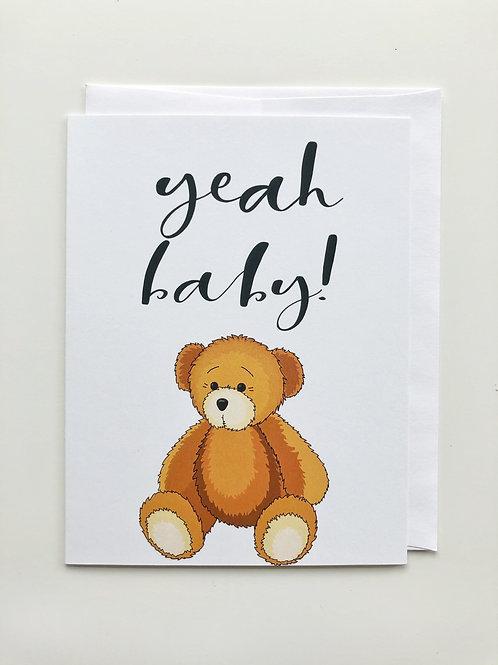 baby teddy card