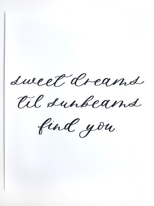 sweet dreams white print