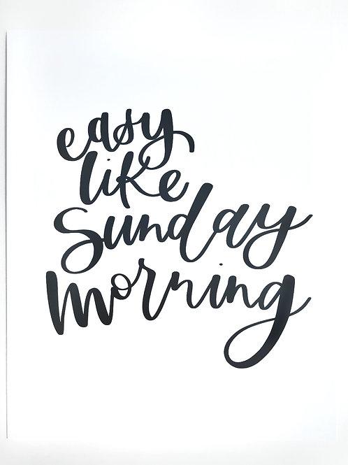sunday morning print