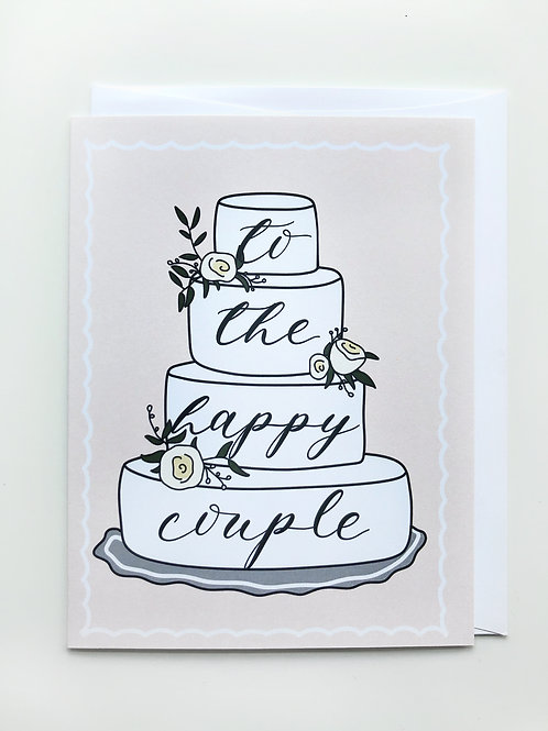 happy couple cake card