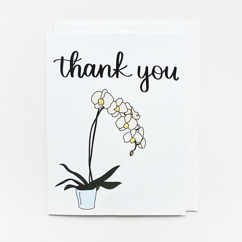 thank you orchid card