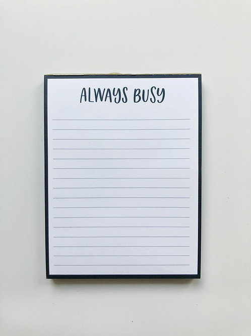 always busy notepad