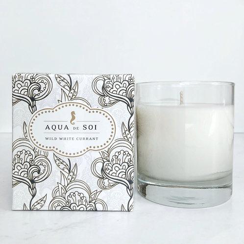aqua de soi white wild currant candle