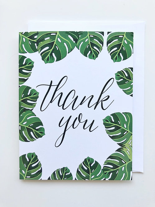 thank you monstera card