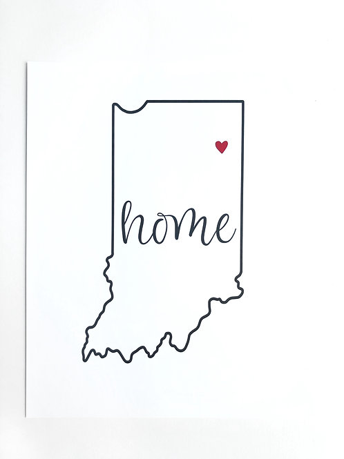 northeast indiana home print