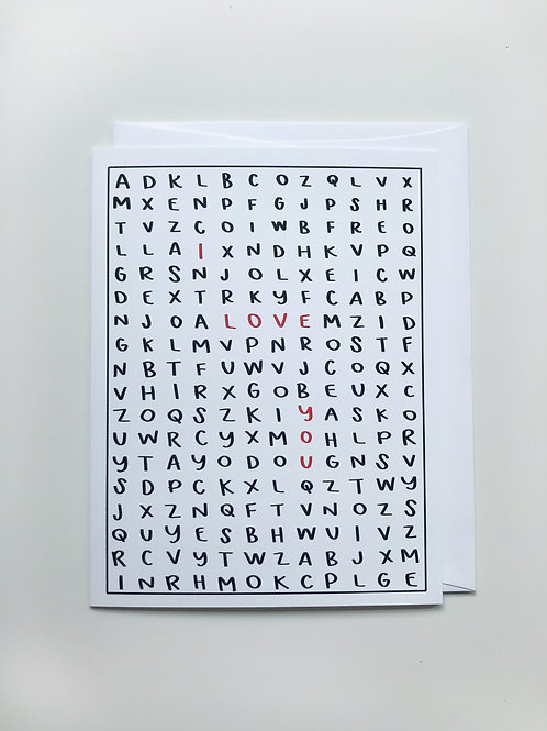 word find card