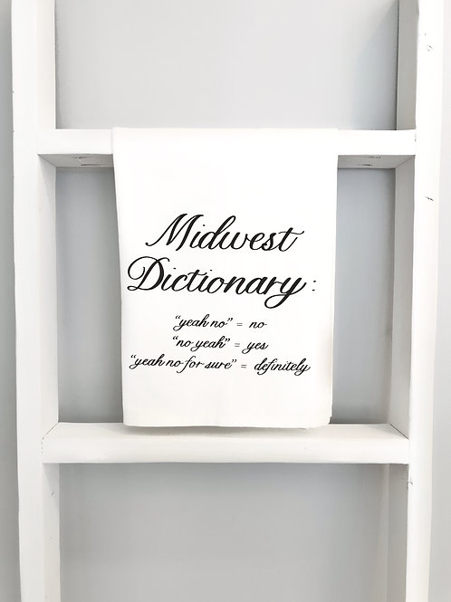 midwest dictionary tea towel