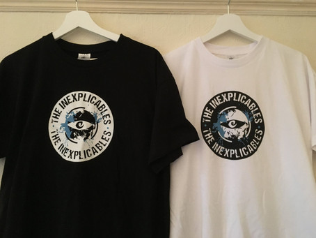 Two Colour Screen Print For Bristol Based Band The Inexplicables.
