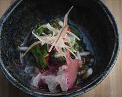 Mozuku - samphire, fungi, goji berries, seaweed salad - photograph by Pak Keung Wan
