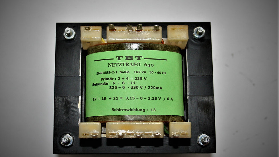 Netztrafo   NTR  640     330 - 0 - 330,  220mA ,  6,3V  6A