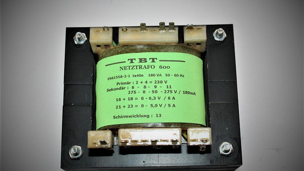 Netztrafo   NTR 600    275- 0-50- 27 5 V /180mA 6,3V  6A , 5V  5A