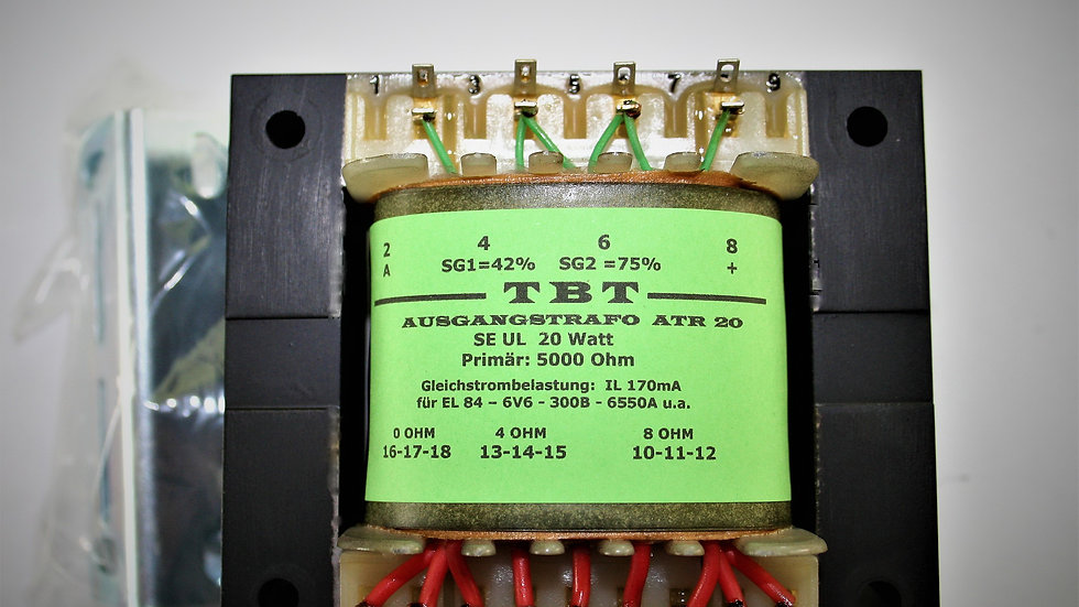Eintaktübertrager ( Single Ended ) ATR 20 f.EL-84-300bT88-300b u.A.