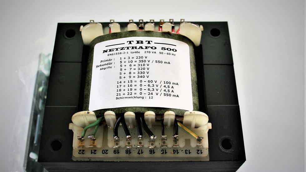 Netztrafo 500 1x 350-350-340- 330-320-310V-550mA,