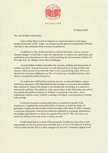 HH Dalai Lama - COVID-19 Letter 1.JPG