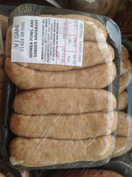 Guinea Fowl and Ginger Sausages