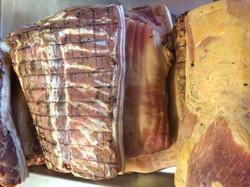 Streaky Bacon ready for slicing