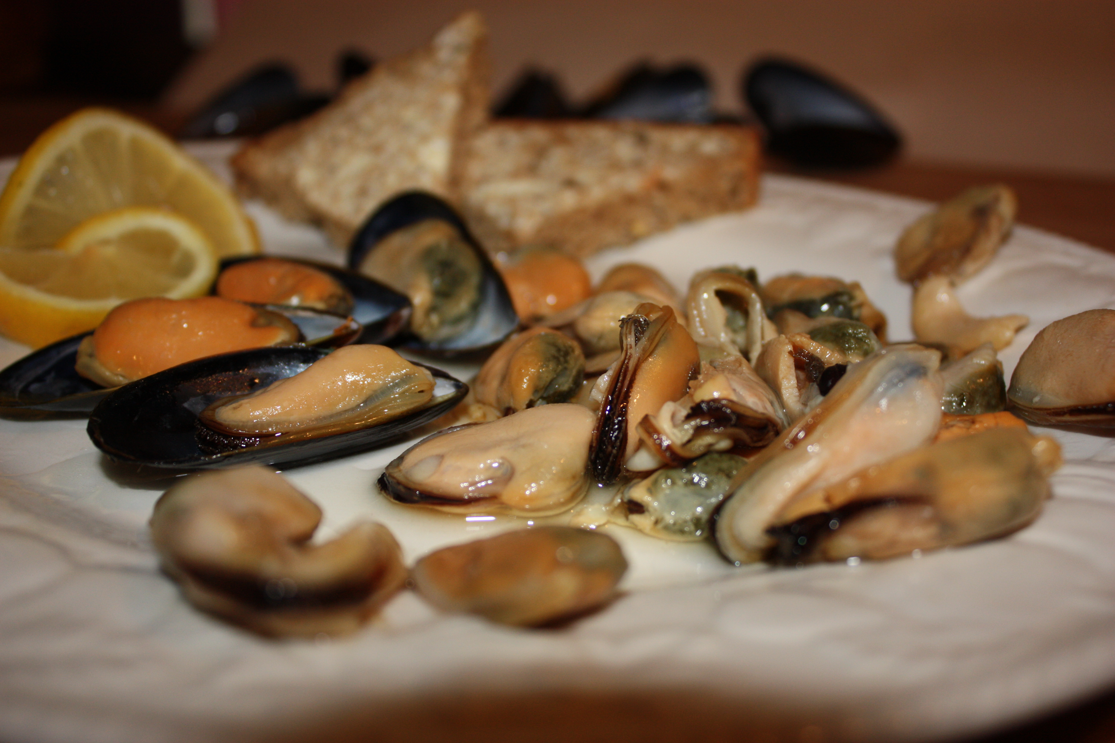 Oak Smoked Mussels