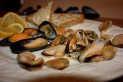 Oak Smoked Mussels