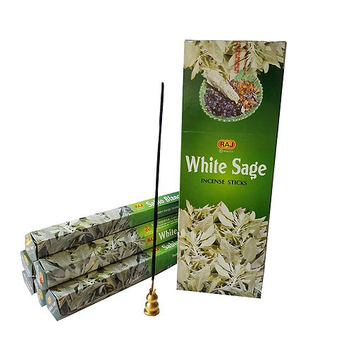 1 Small Box Indian Incense White Sage Sticks for Home