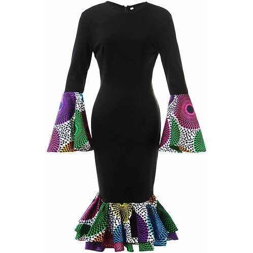 Shenbolen African Dresses for Women Cotton Material Traditional Ankara Dresses