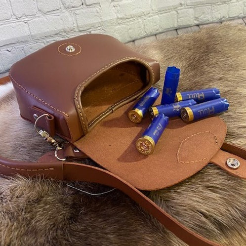 Leather cartridge Bag - handmade - hunting accessories - shooting accessories -
