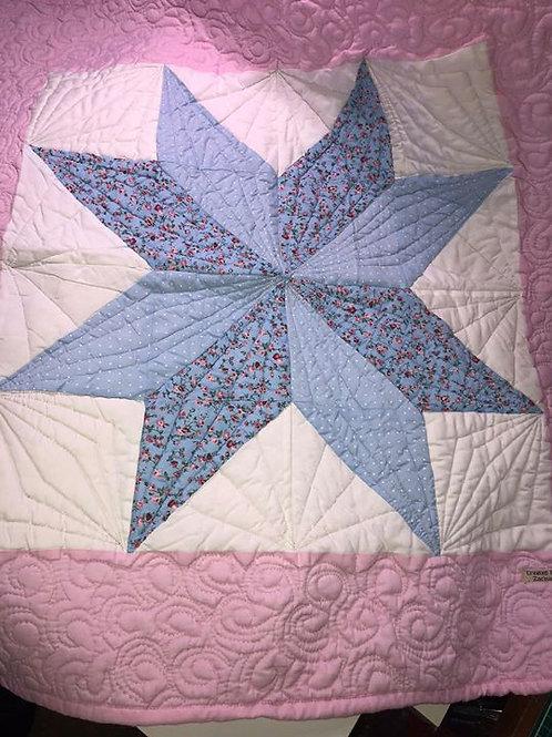 Patchwork Pink Baby Quilt