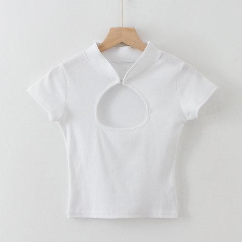 white chinese top