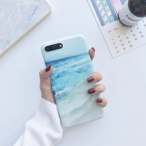 watercolor ocean iPhone case