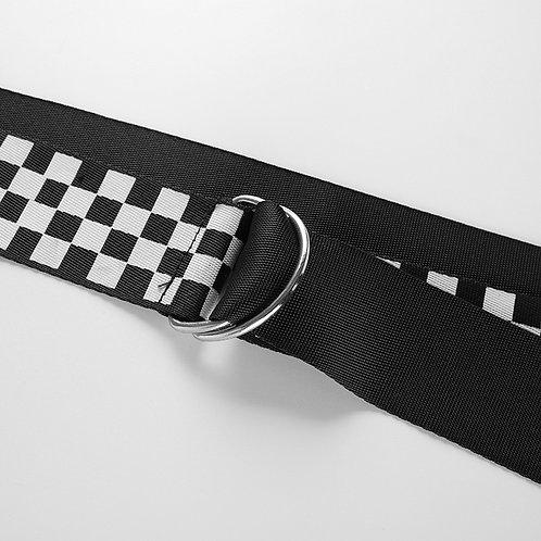 checkered belt