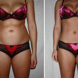 Authentic real amateurish before and aft