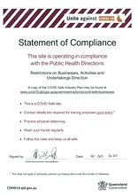 COVID - Safe Plan & Statement of Complia