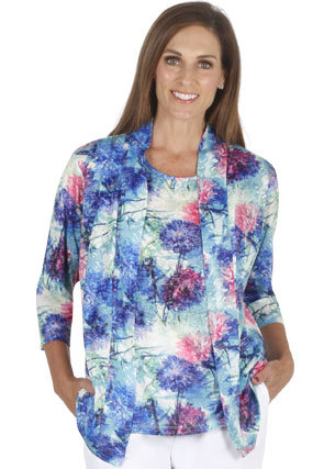 Floral Jacket & Matching Cami - Style 5846