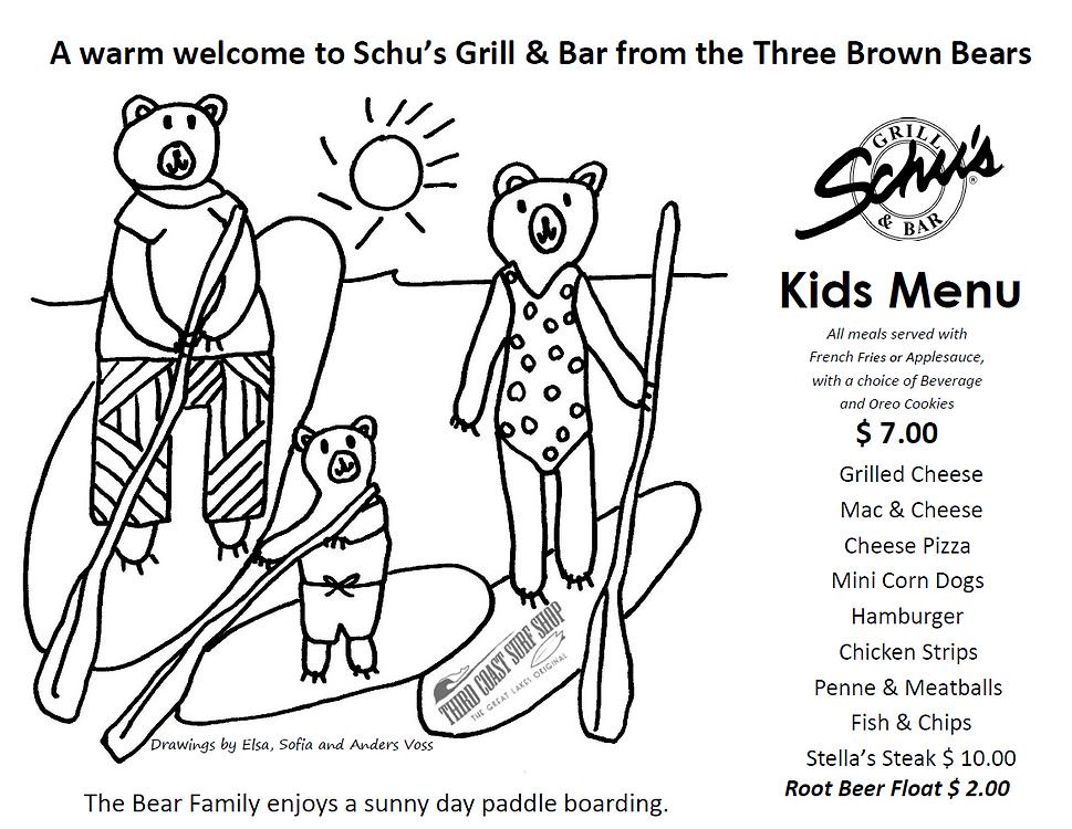 SCHU'S SUMMER KID'S MENU edited with pho